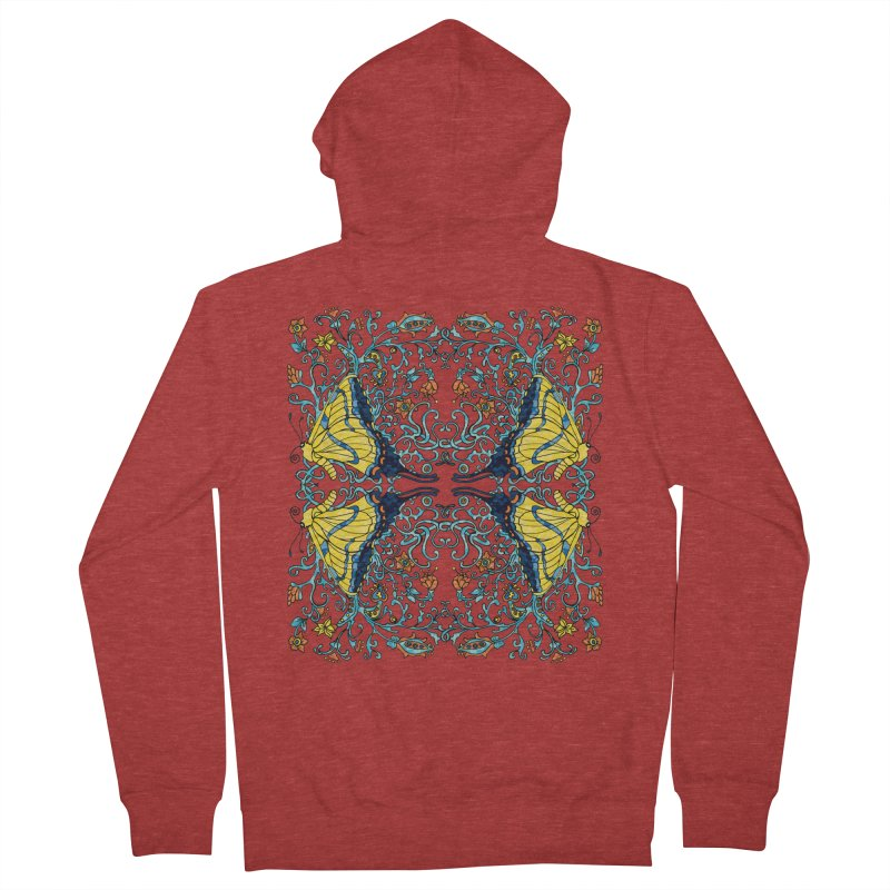 Art nouveau Flowers and Butterflies Women's Zip-Up Hoody by jandeangelis's Artist Shop