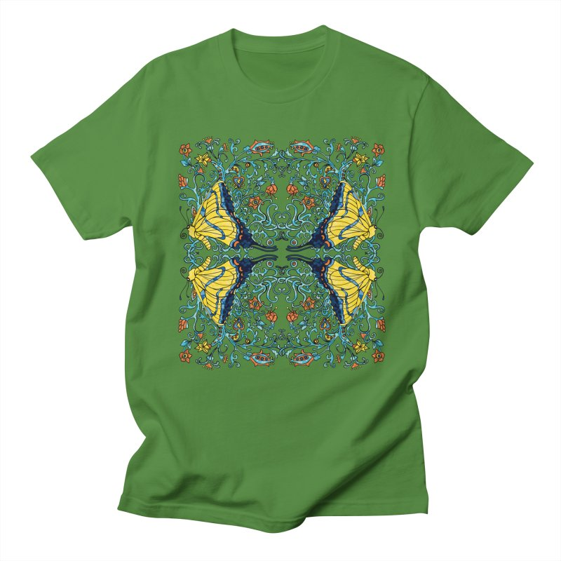 Art nouveau Flowers and Butterflies Men's T-Shirt by jandeangelis's Artist Shop