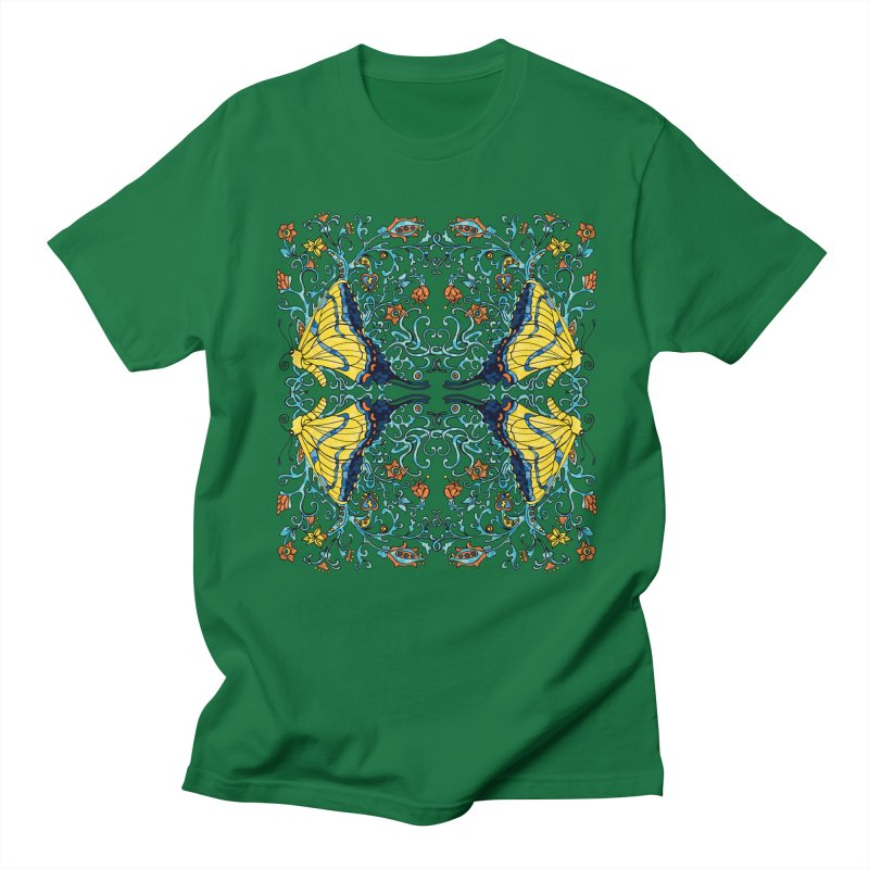 Art nouveau Flowers and Butterflies Men's T-Shirt by jandeangelis's Artist Shop