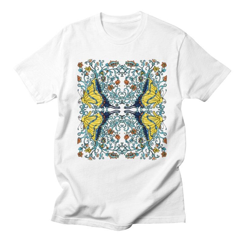 Art nouveau Flowers and Butterflies Women's Regular Unisex T-Shirt by jandeangelis's Artist Shop