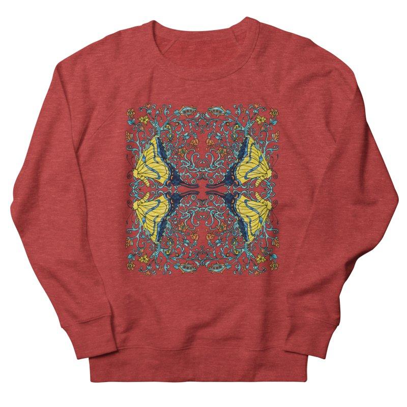 Art nouveau Flowers and Butterflies Women's French Terry Sweatshirt by jandeangelis's Artist Shop
