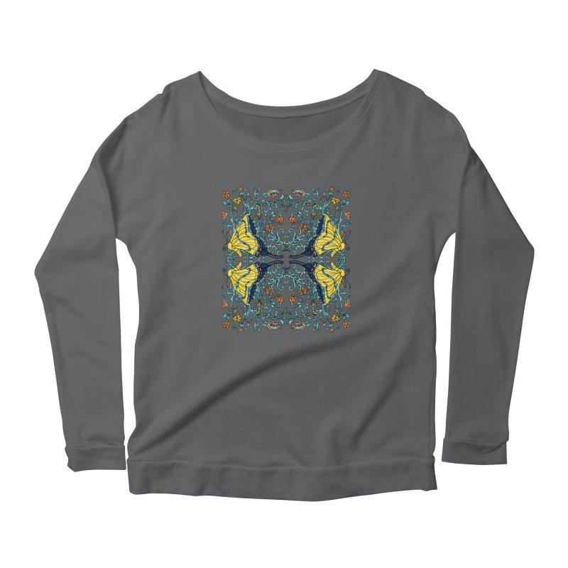 Art nouveau Flowers and Butterflies Women's Longsleeve T-Shirt by jandeangelis's Artist Shop