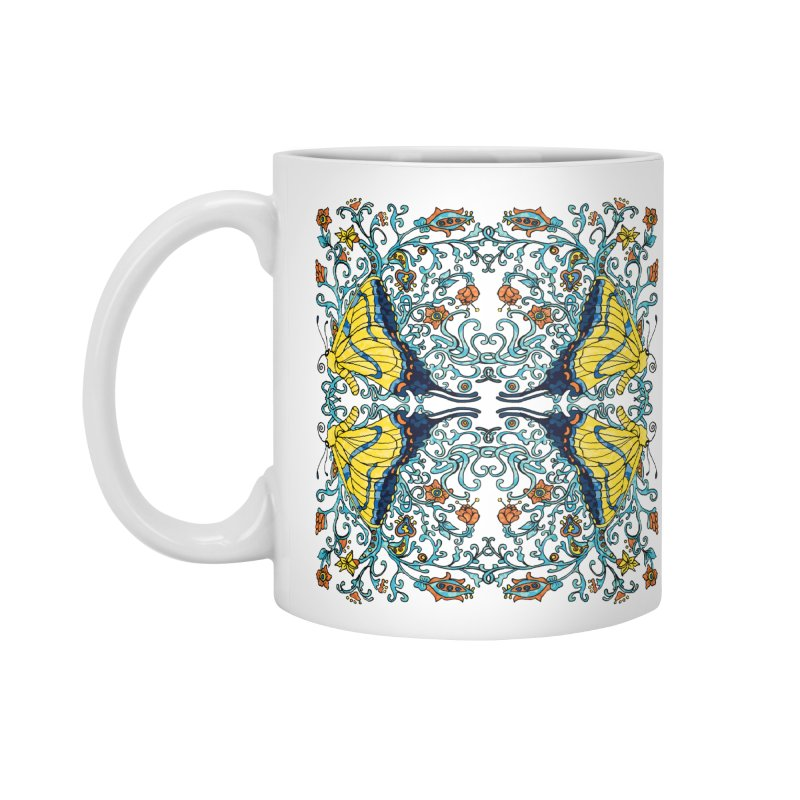 Art nouveau Flowers and Butterflies Accessories Standard Mug by jandeangelis's Artist Shop