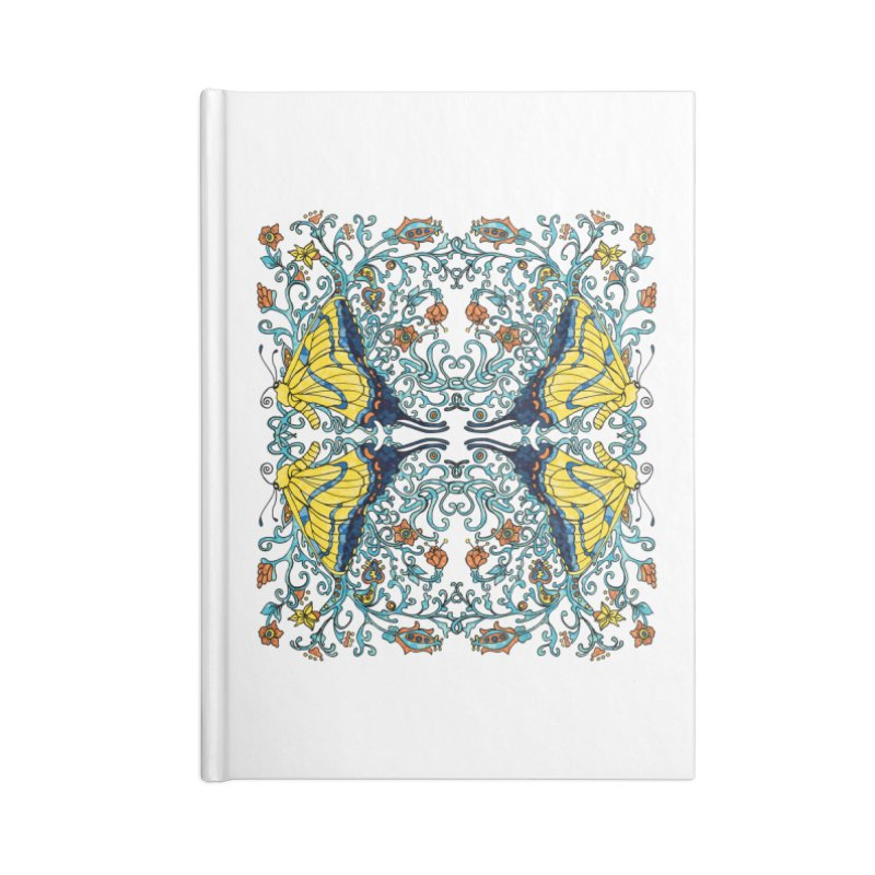 Art nouveau Flowers and Butterflies Accessories Lined Journal Notebook by jandeangelis's Artist Shop