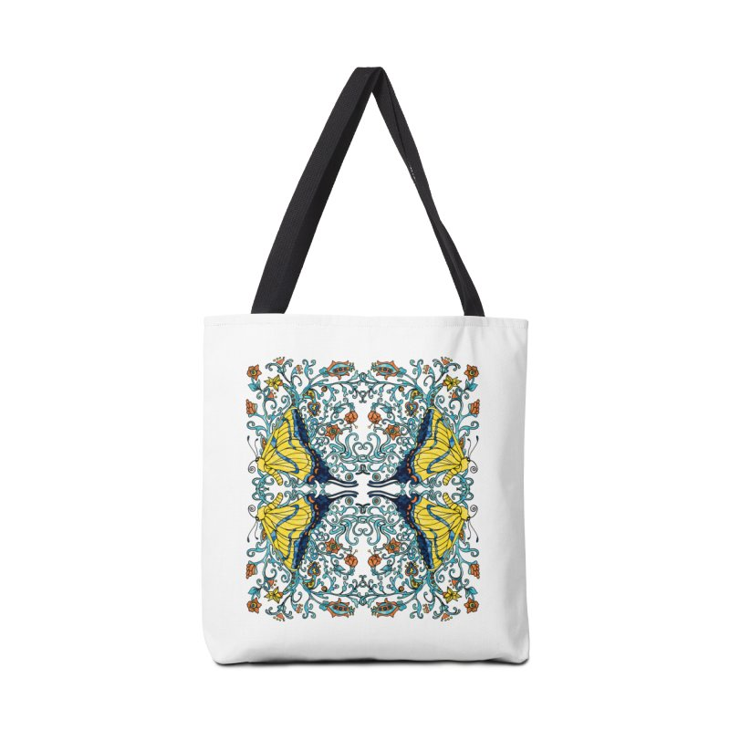 Art nouveau Flowers and Butterflies Accessories Bag by jandeangelis's Artist Shop