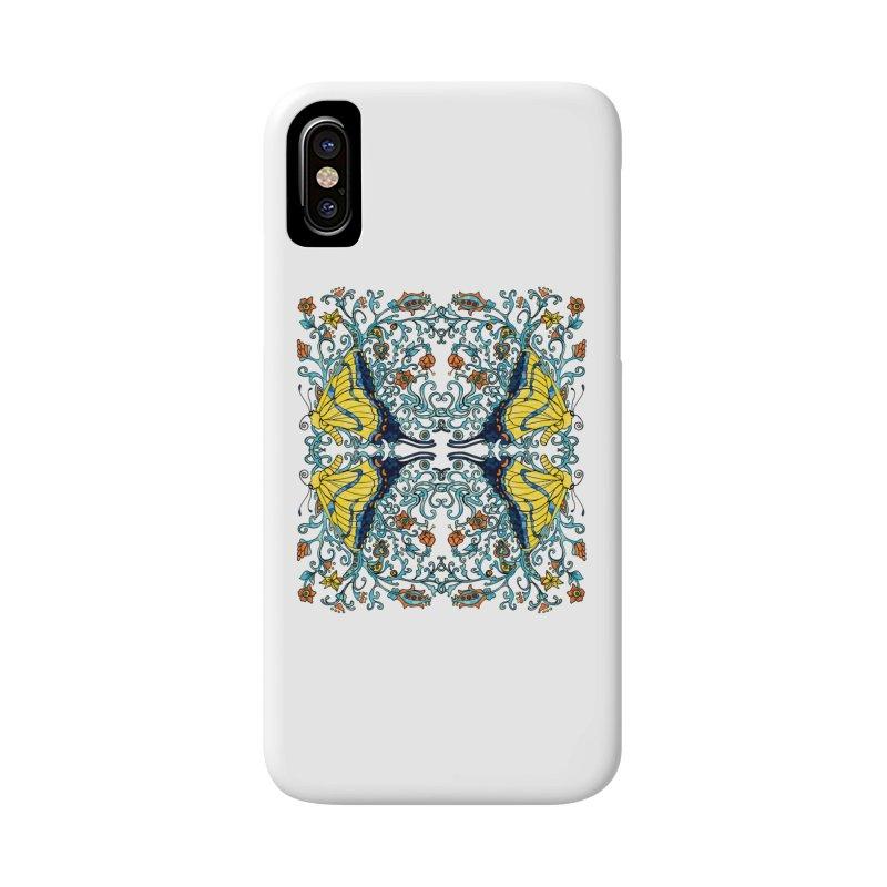 Art nouveau Flowers and Butterflies Accessories Phone Case by jandeangelis's Artist Shop