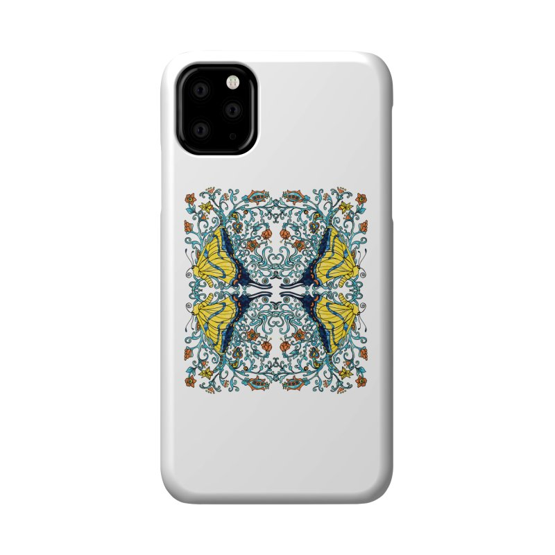 Art nouveau Flowers and Butterflies Accessories Phone Case by jandeangelis's Artist Shop