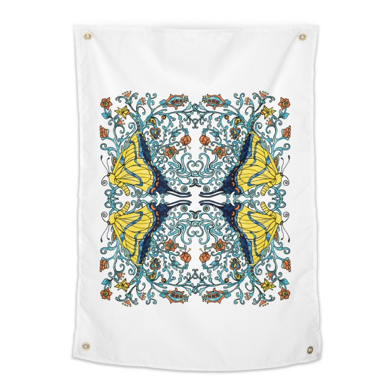 Art nouveau Flowers and Butterflies Home Tapestry by jandeangelis's Artist Shop