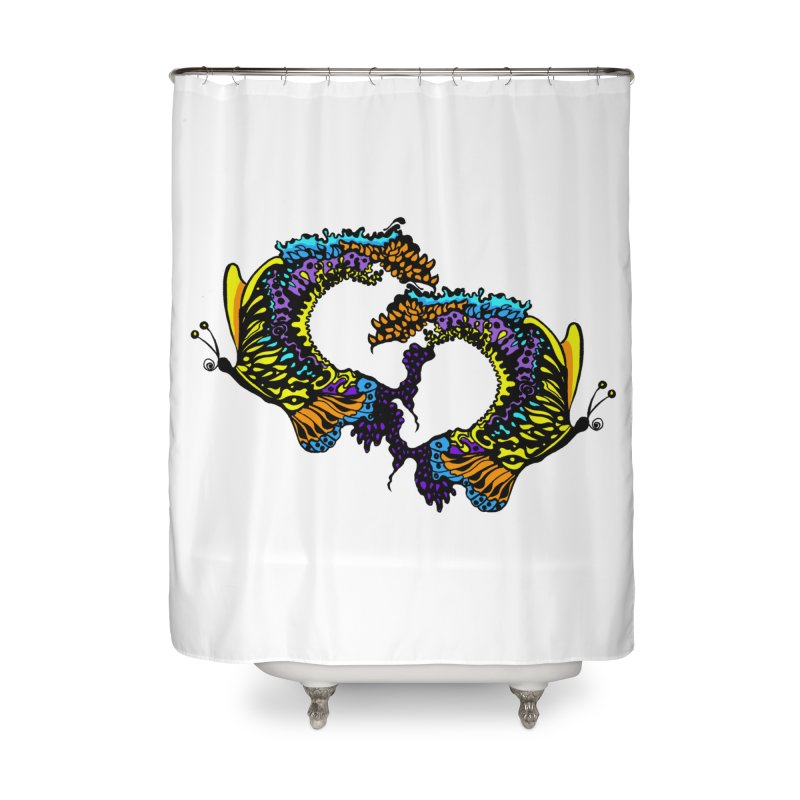 Butterflysplash Home Shower Curtain by jandeangelis's Artist Shop