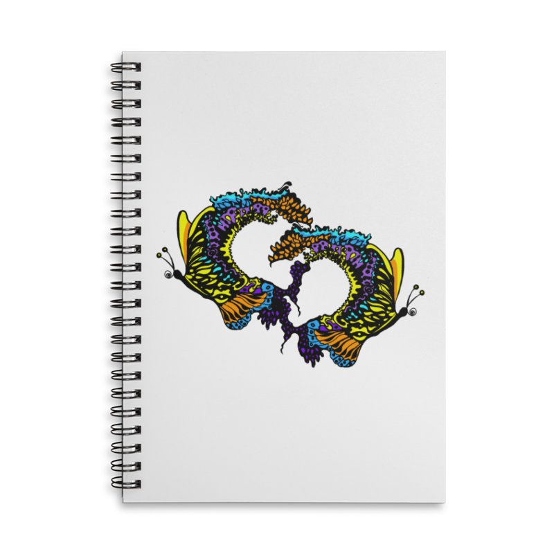 Butterflysplash Accessories Lined Spiral Notebook by jandeangelis's Artist Shop