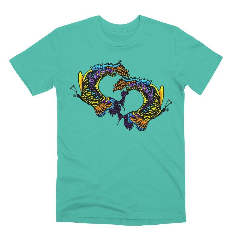 Butterflysplash Men's Premium T-Shirt by jandeangelis's Artist Shop