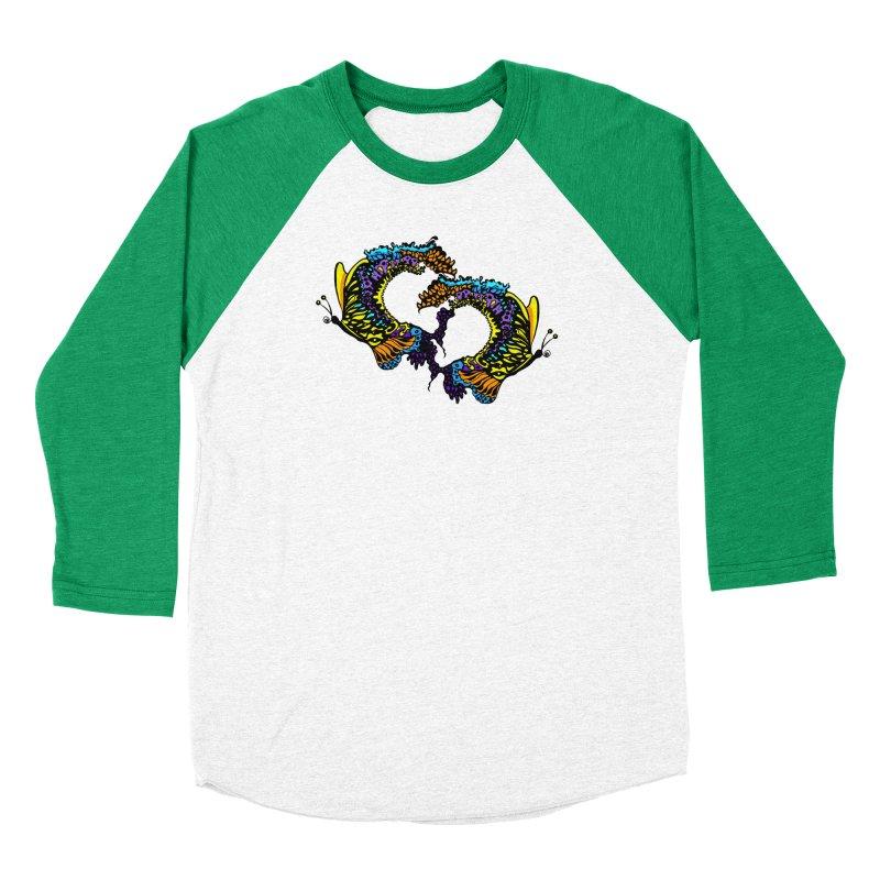 Butterflysplash Women's Baseball Triblend Longsleeve T-Shirt by jandeangelis's Artist Shop