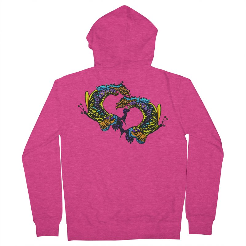Butterflysplash Women's French Terry Zip-Up Hoody by jandeangelis's Artist Shop