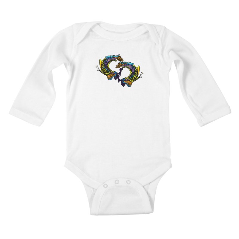 Butterflysplash Kids Baby Longsleeve Bodysuit by jandeangelis's Artist Shop