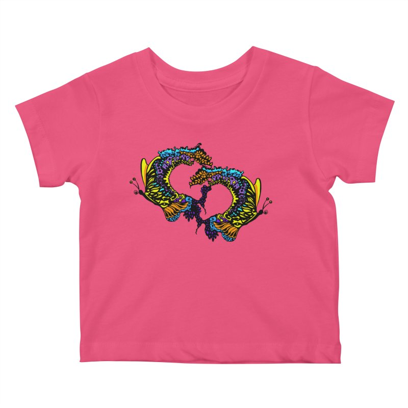 Butterflysplash Kids Baby T-Shirt by jandeangelis's Artist Shop