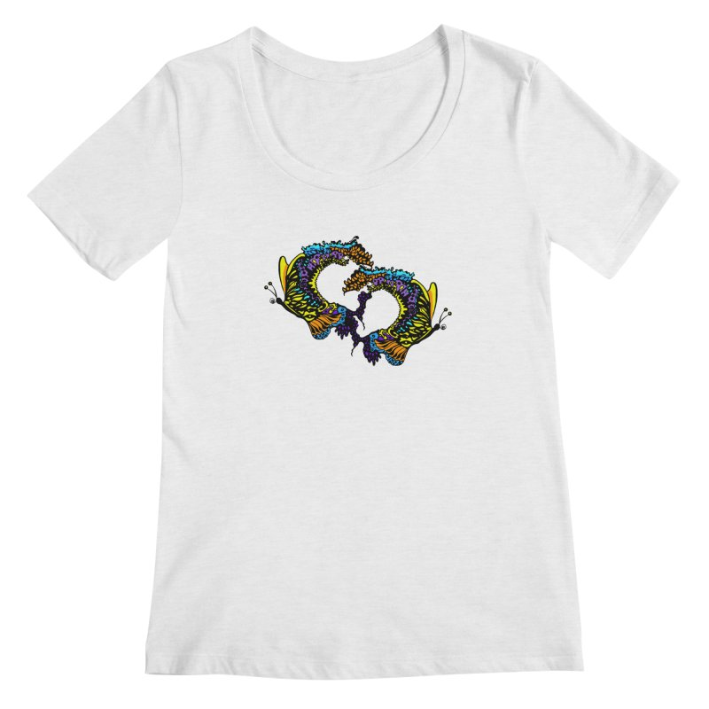 Butterflysplash Women's Regular Scoop Neck by jandeangelis's Artist Shop