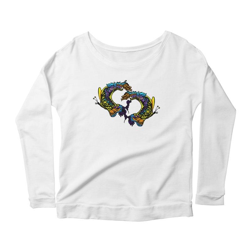 Butterflysplash Women's Scoop Neck Longsleeve T-Shirt by jandeangelis's Artist Shop