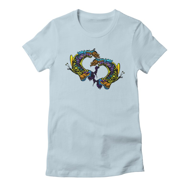 Butterflysplash Women's Fitted T-Shirt by jandeangelis's Artist Shop