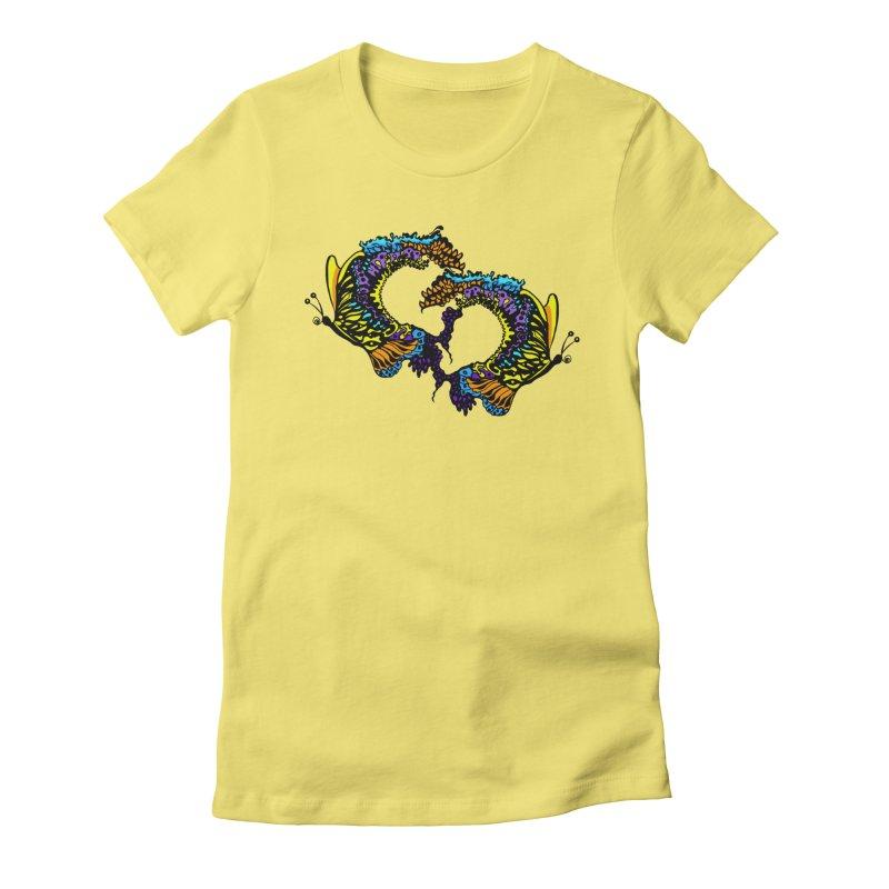 Butterflysplash Women's Fitted T-Shirt by jandeangelis's Artist Shop