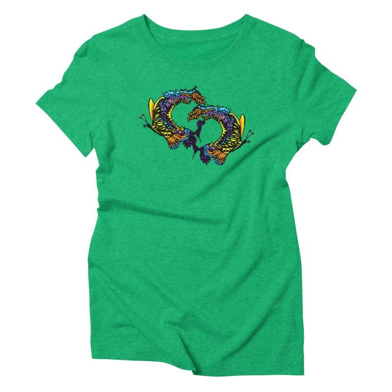 Butterflysplash Women's Triblend T-Shirt by jandeangelis's Artist Shop