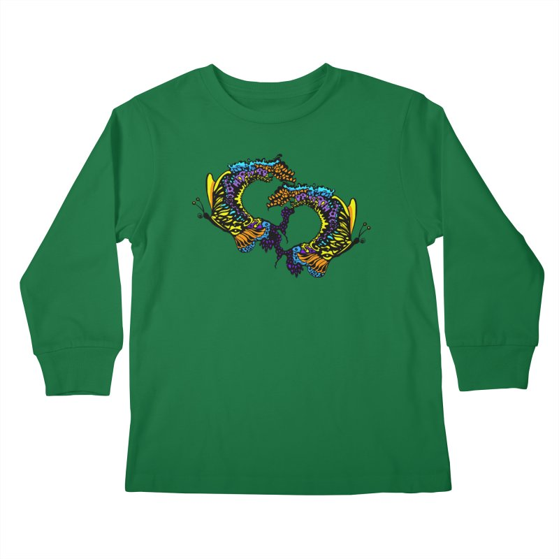 Butterflysplash Kids Longsleeve T-Shirt by jandeangelis's Artist Shop