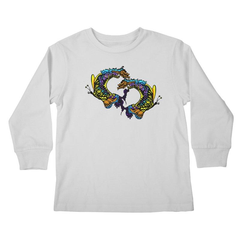 Butterflysplash Kids Longsleeve T-Shirt by jandeangelis's Artist Shop