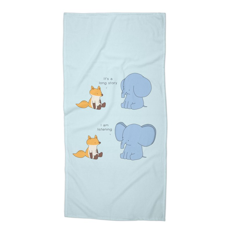 Listening Ears Accessories Beach Towel by Jangandfox's Artist Shop