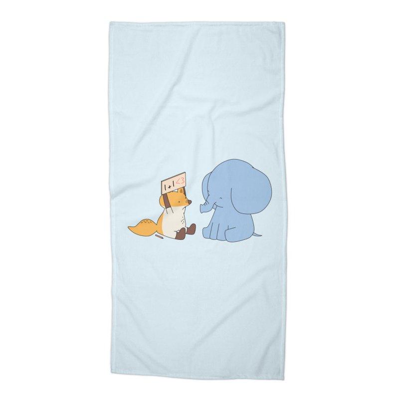 1+1<3 Accessories Beach Towel by Jangandfox's Artist Shop