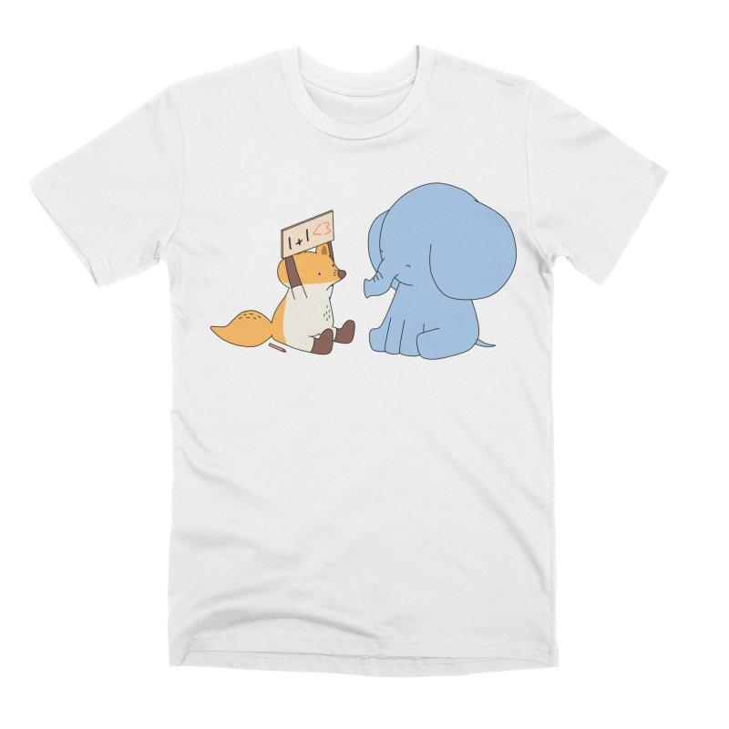 1+1<3 Men's T-Shirt by Jangandfox's Artist Shop