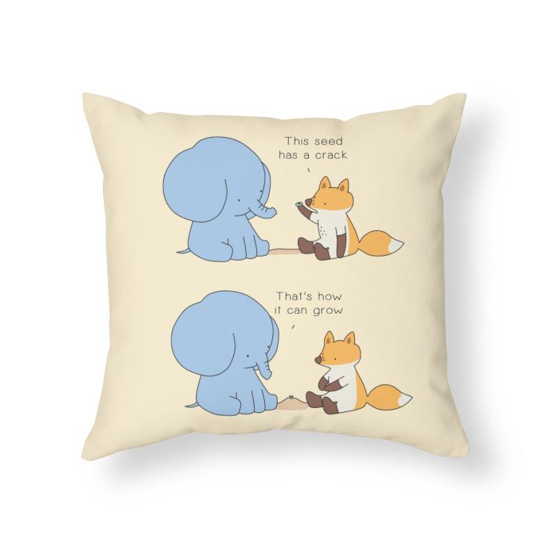 Grow like a Seed Home Throw Pillow by Jangandfox's Artist Shop
