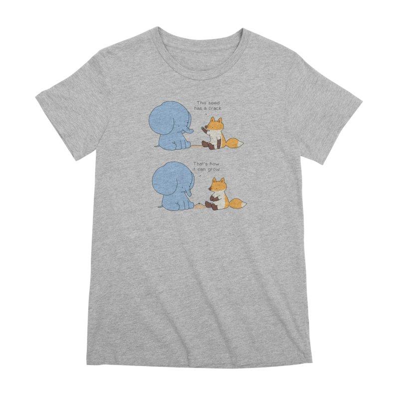 Grow like a Seed Women's Premium T-Shirt by Jangandfox's Artist Shop