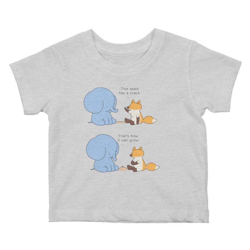 Grow like a Seed Kids Baby T-Shirt by Jangandfox's Artist Shop