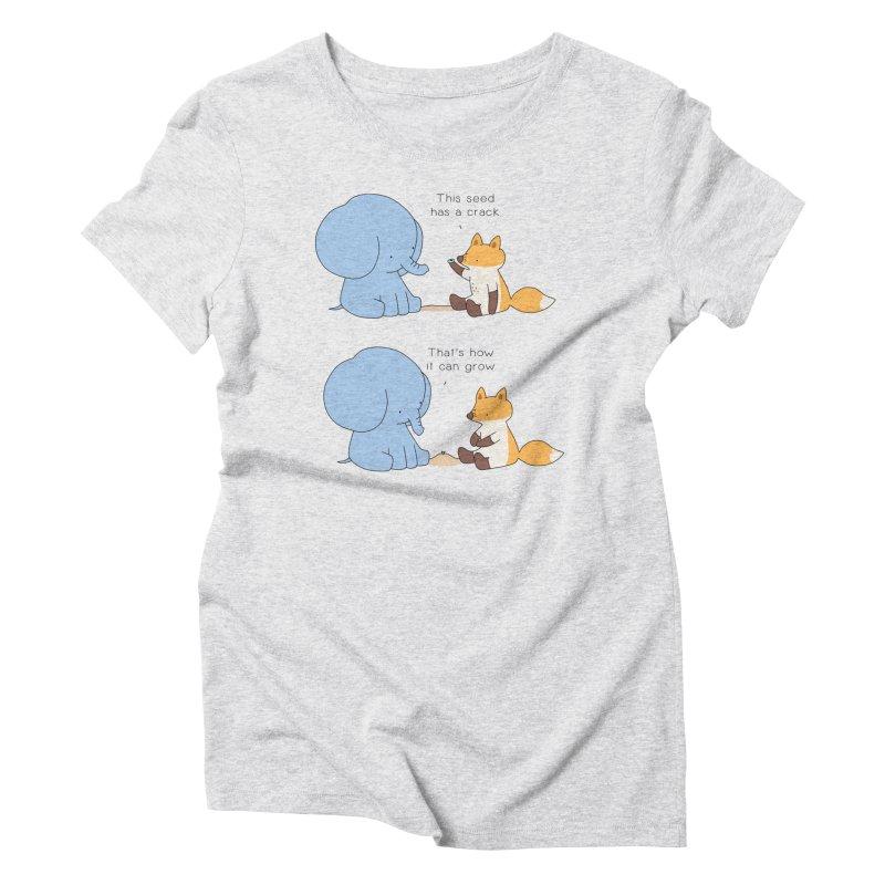 Grow like a Seed Women's Triblend T-Shirt by Jangandfox's Artist Shop