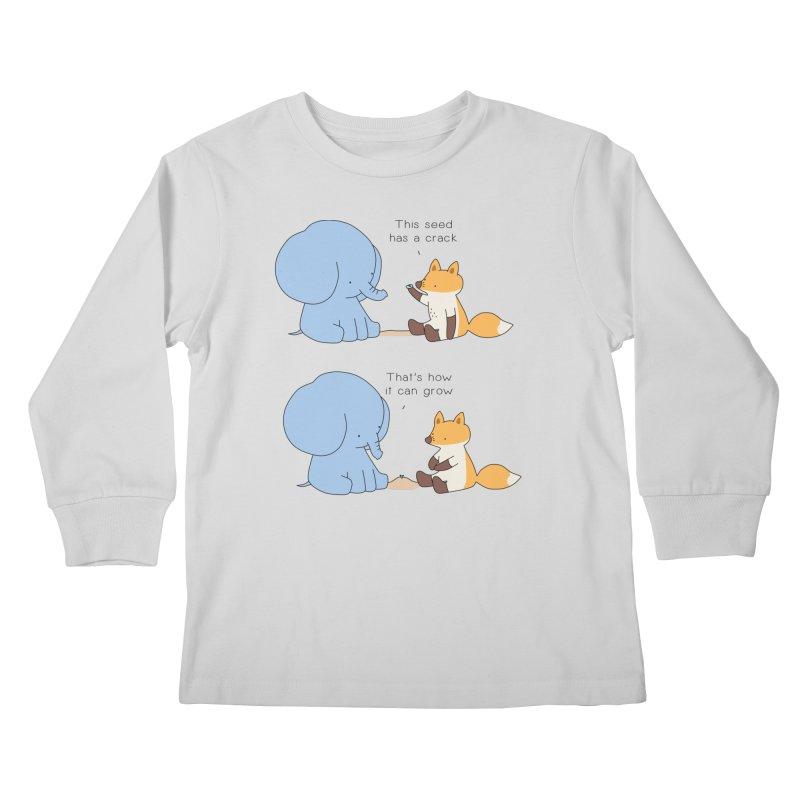 Grow like a Seed Kids Longsleeve T-Shirt by Jangandfox's Artist Shop