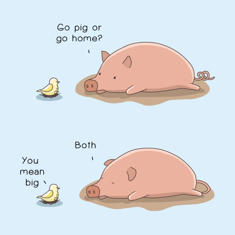 Go Pig or Go Home by Jangandfox's Artist Shop