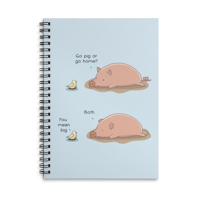 Go Pig or Go Home Accessories Lined Spiral Notebook by Jangandfox's Artist Shop