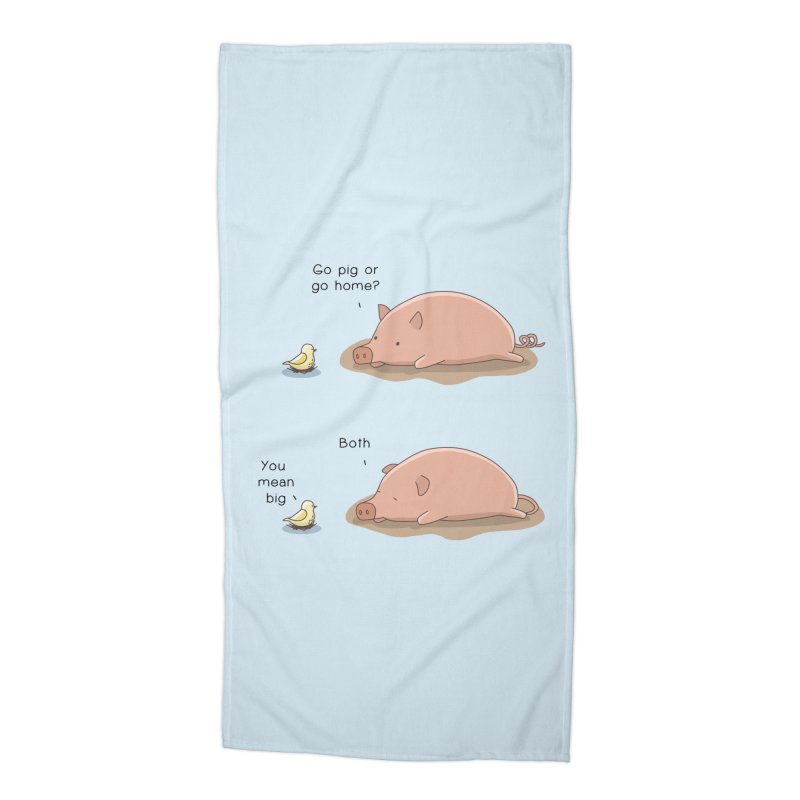 Go Pig or Go Home Accessories Beach Towel by Jangandfox's Artist Shop