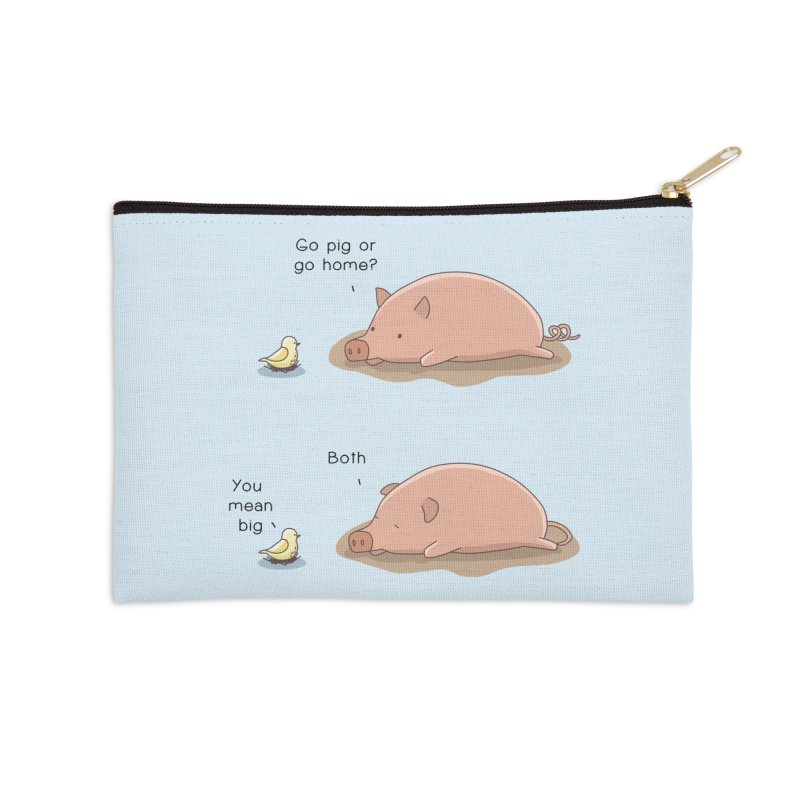 Go Pig or Go Home Accessories Zip Pouch by Jangandfox's Artist Shop