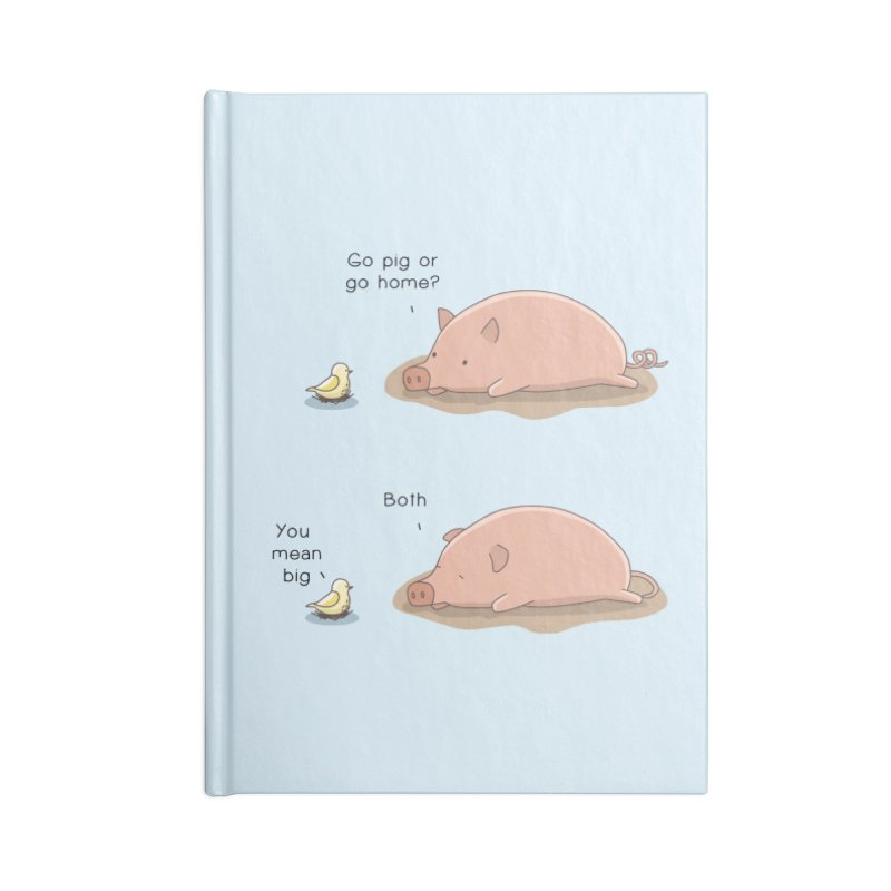 Go Pig or Go Home Accessories Lined Journal Notebook by Jangandfox's Artist Shop