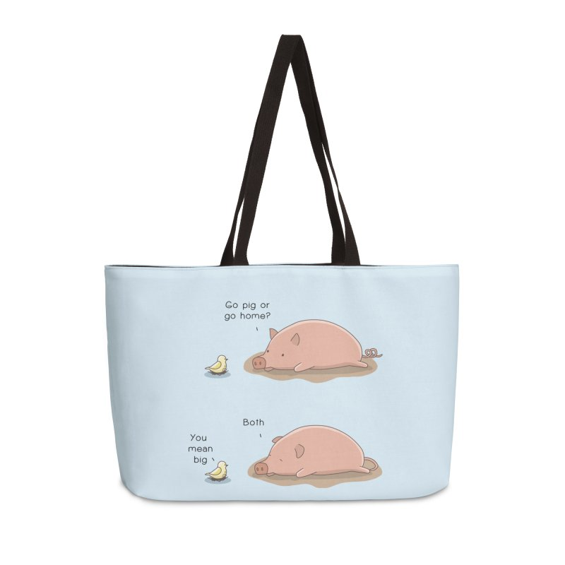 Go Pig or Go Home Accessories Weekender Bag Bag by Jangandfox's Artist Shop