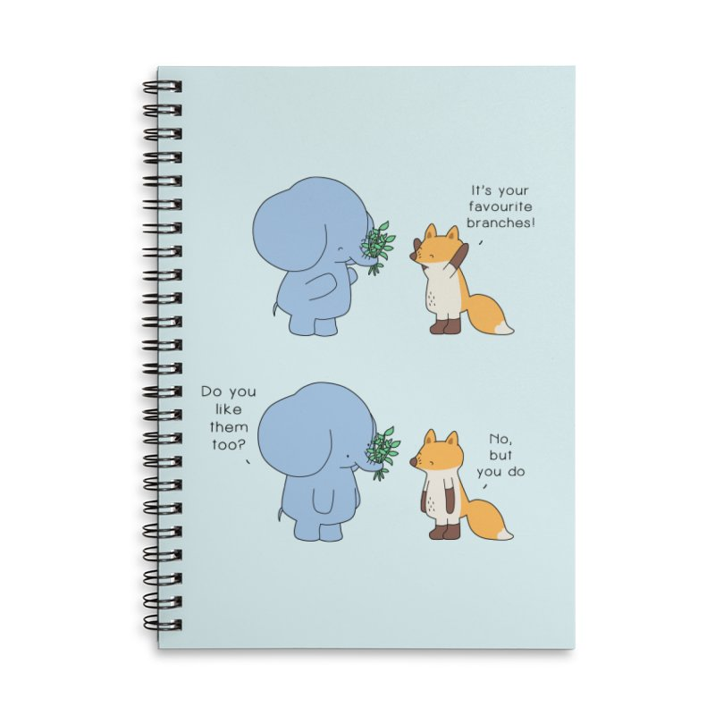 I Share Your Happiness Accessories Lined Spiral Notebook by Jangandfox's Artist Shop
