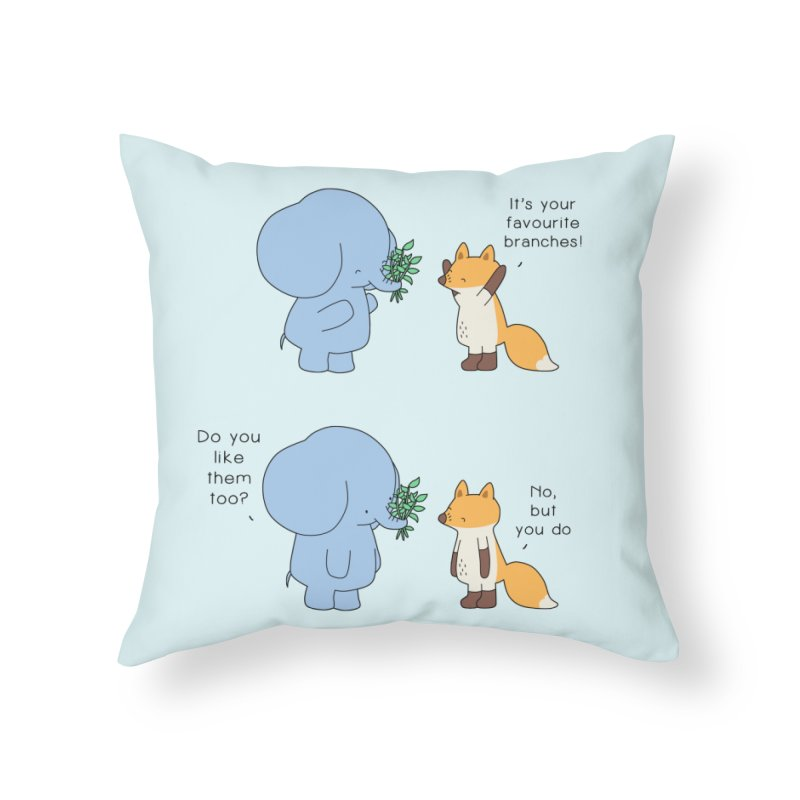 I Share Your Happiness Home Throw Pillow by Jangandfox's Artist Shop