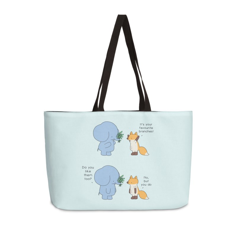I Share Your Happiness Accessories Weekender Bag Bag by Jangandfox's Artist Shop