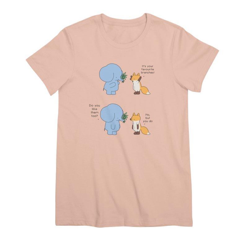 I Share Your Happiness Women's Premium T-Shirt by Jangandfox's Artist Shop