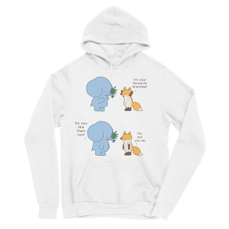 I Share Your Happiness Men's Sponge Fleece Pullover Hoody by Jangandfox's Artist Shop