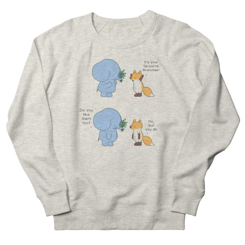 I Share Your Happiness Men's French Terry Sweatshirt by Jangandfox's Artist Shop