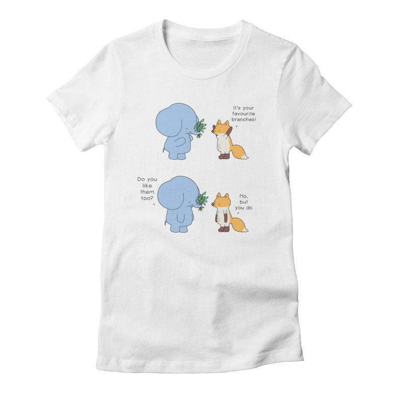I Share Your Happiness Women's Fitted T-Shirt by Jangandfox's Artist Shop