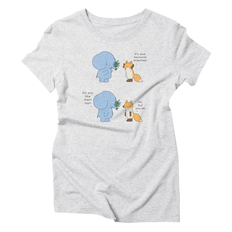 I Share Your Happiness Women's Triblend T-Shirt by Jangandfox's Artist Shop