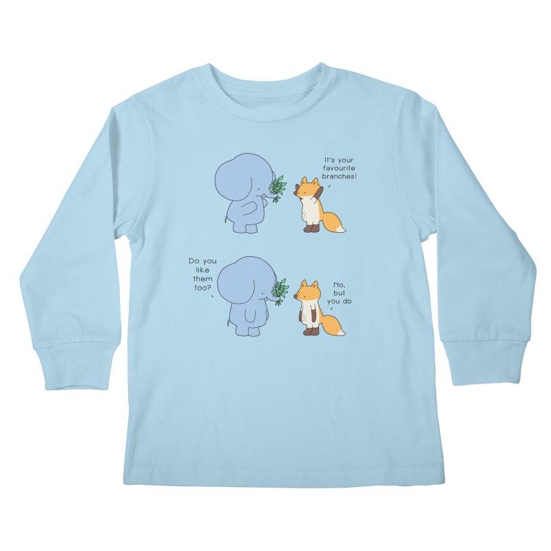 I Share Your Happiness Kids Longsleeve T-Shirt by Jangandfox's Artist Shop