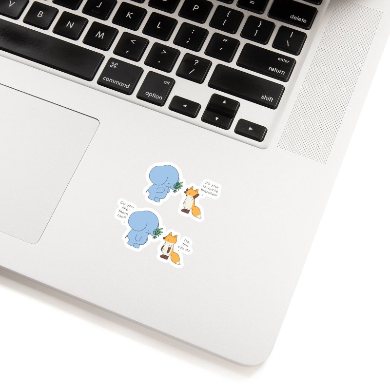 I Share Your Happiness Accessories Sticker by Jangandfox's Artist Shop